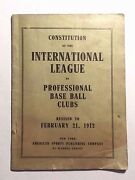 Rare 1912 Constitution Of The International League Of Professional Baseball