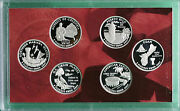 2009 Proof 90 Silver Quarter Set Dc And Us Territories 6 Coins Only No Box