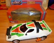 Vintage Rare Greek Wind-up Lancia Stratos Rally By A.p Toys Mib