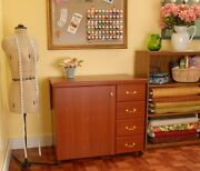 Arrow Norma Jean Sewing Cabinet -optional Quilt Leaf And Insert