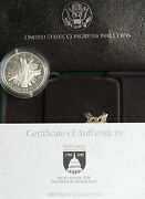 1989 Us Mint Congressional 90 Silver Proof Dollar Commemorative Coin Box And Coa