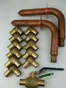 14 1 Brass-copper Pex Fittings Elbowsball Valve And Stubout Elbows Lead Free
