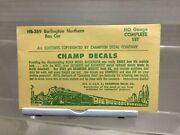 Set Of Ho Champ Decals Please See Photo Hb 389 Burlington Northern Boxcar