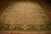 New Oriental 384 X 277 Cm Rugs Usa 9x13 Gray Agra Hand-knotted Rug