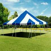 Premium 20x20and039 Pole Tent Waterproof Blue White Party Event Canopy Aluminum Poles