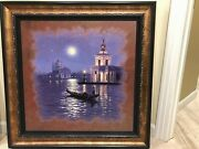 Venice By Moonlight..venetian Nocturne Giclee/gondola Ride/signed