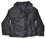 2998 Purple Label Womens Cashmere Puffer Down Jacket Black Small