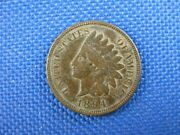 1894 Indian Head Cent Us Penny Coin Dark
