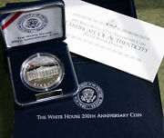 1992 W White House Commemorative 90 Silver Dollar Us Proof Coin Box And Coa