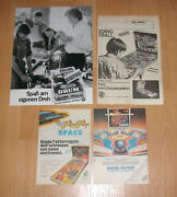 1970and039s 80and039s Vintage Pinball Machines Print Ad Advertisement Lot European