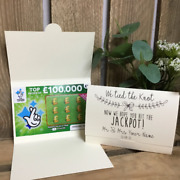 Scratch Card Holder. Wedding Favour Idea. Lottery Ticket Wallet. Personalised