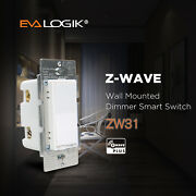 Evalogik Z-wave Plus Dimmer Switch Smart Home Automation - Wall Plate Included