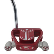 Superstroke Fatso 5.0 Black/silver Grip On T7 Twin Engine Red Mallet 34 Putter