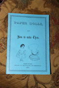 Paper Dolls And How To Make Them Vintage Antique 1856 Book