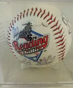 2005 Reading Phillies Signed By Several Players Baseball Plastic Baseball Case