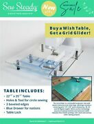 Elna Sewing Machine - Sew Steady Ultimate Wish Table Package - Made In Usa
