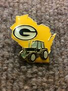 Very Rare 2007 Green Bay Packers Wisconsin Tractor Collectible Football Pin