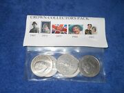Crown Collectors Pack Coins ,1965 -1981 Churchill ,queen, Diana Ect Uncirculated