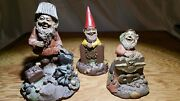 Tom Clark Gnome Lot Collection Of 3 Flyboy, Coastie And Chip Signed And Numbered