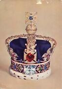 Uk5668 Imperial State Crown Postcard Queen Royalty Uk