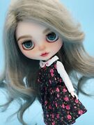 Custom Blythe Doll Her Hair Is Human Hair Gray Color
