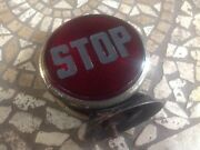 Vintage Red Stop Light Unique Frosted Glass Lens Truck Pickup Motorcycle Auto