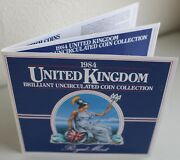 1984 United Kingdom Brilliant Uncirculated Coin Collection 8 Coin Br Mint Set