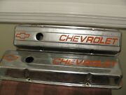 Chevy 350 Short Block Chrome Valve Covers Used
