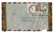 Argentina, Buenos Aires - 1945 - 46 - 47 Stamps On 9 Vintage Air Mail Envelopes.