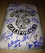 Sons Of Anarchy Castx14 Authentic Hand-signed 11x17 Photocharlie Hunnamproof