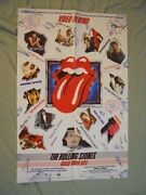 Rolling Stones Videocassette Vhs Release Poster 36x24 Vintage/rare