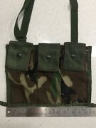 Nos Us Military Molle Ii Ammo Magazine Bandoleer Woodland Camo Mag Pouch New