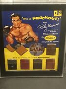 1950s Rocky Marciano Champ Lighter Advertising 11 X 13 With 6 Original Lighters