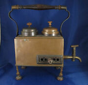 Early C1800 Antique Copper Traveling Russian Samovar Urn Dovetailed , Primitive