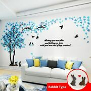 3d Tree Acrylic Mirror Wall Sticker Decals Diy Art Tv Background Poster New Home