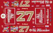 27 Tim Richmond Old Milwaukee Beer 1/43rd Scale Slot Car Decals