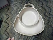 Ltd Commodities Drip Glazed Stoneware Soup And Crackers Chip And Dip Tan And Brown