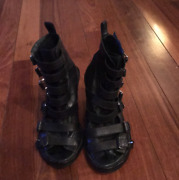Authentic Ann Demeulemeester Gladiator Wedges 7 - Rare Lined Original Must See
