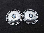 1966-1977 Bmw 1600 1602 1802 2002 Series Wheelcovers Hubcaps Set Of 2