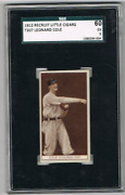 1912 T207 Leonard King Cole Sgc 60 5 1st Cubs No-hitter Babe Ruth's 1st H