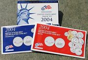 2004 Proof And Uncirculated Annual Us Mint Coin Sets Pds 33 Coins Two Coin Sets