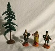 Composition Figures Made In Germany Circa 1930s Elastolin Lineol