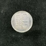 Reformation Medal Undated 18th Cent Silver 22mm Ten Commandments Friendship