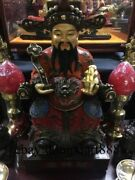 18 Chinese Bronze God Of Wealth Wealthy Dragon Mammon Treasure Fengshui Statue