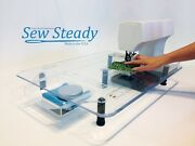 Elna Sewing Machine Sew Steady Large Deluxe Extension Table - Made In Usa