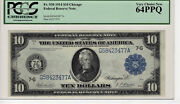 Fr.930 1914 10 Frn Chicago Pcgs 64ppq Uncirculated