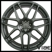 20 Ace Mesh-7 Grey Concave Wheels Rims Fits Ford Mustang Shelby Gt Gt500
