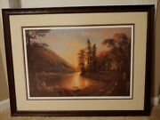 Jesse Barnes Print Matted And Framed Peaceful Evening
