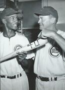 Chicago Cubs Ernie Banks Mr Cub With 40th Home Run Bat In Hand After Game