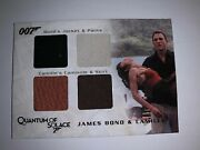 James Bond And Camille Authentic Wardrobe Relic Four Piece Card. Qc27. 151/425.